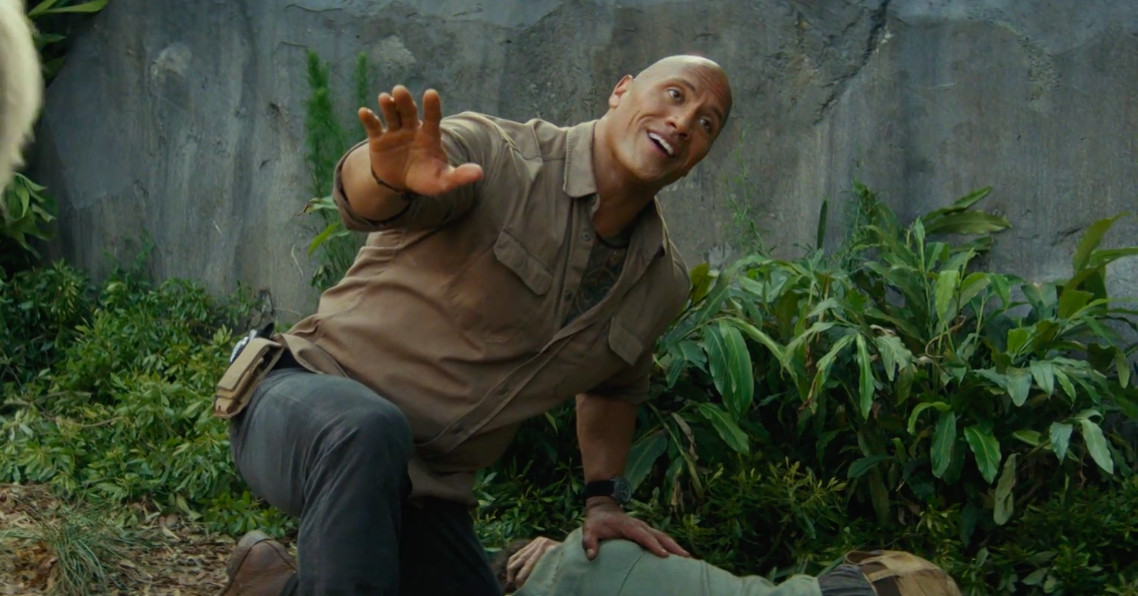 photo image Watch The Rock befriend gorillas and fight flying wolves in Rampage