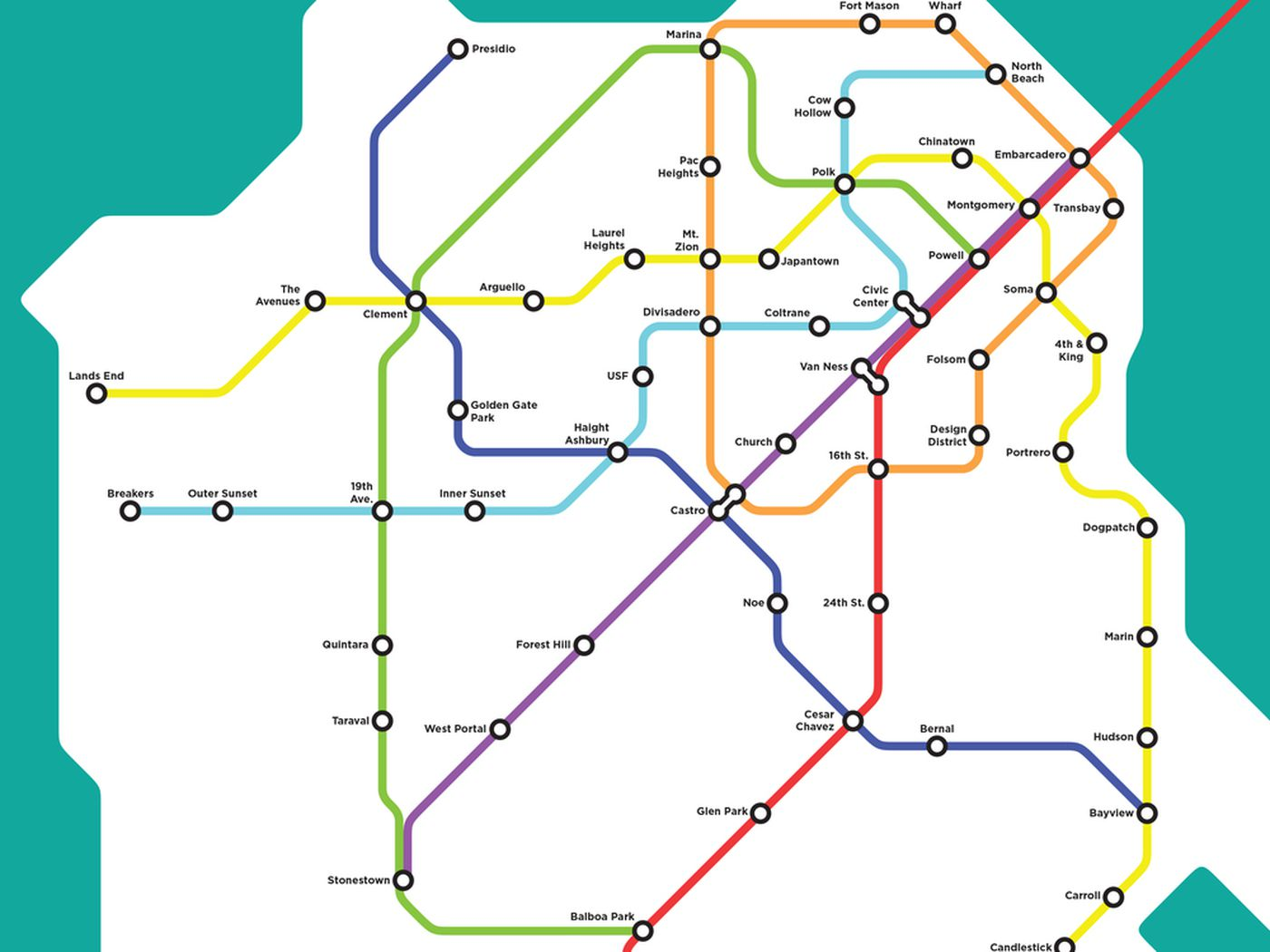 Wouldn T It Be Glorious If This Fantasy San Francisco Bart Map Were