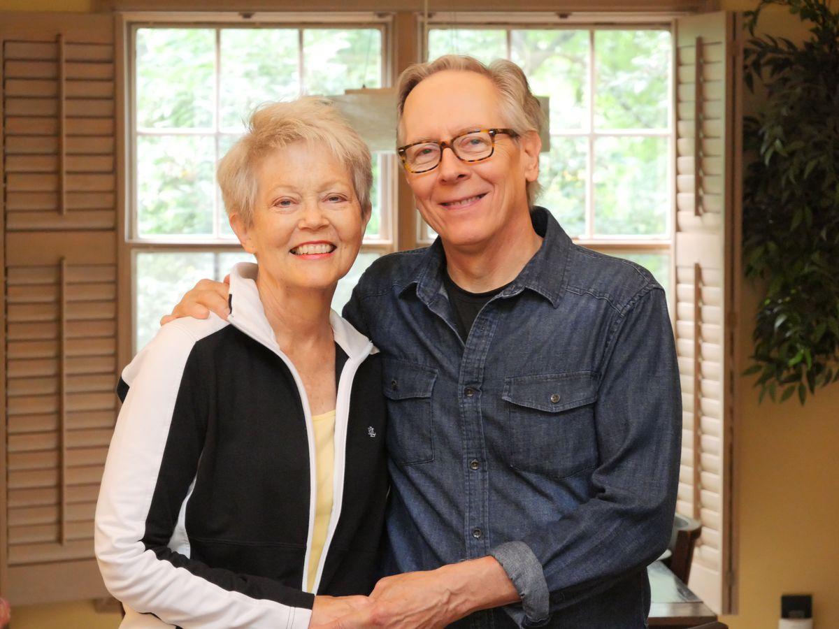 Barbara Wojcik with her husband Jim Wojcik, who helped her finish the book after her cancer spread.