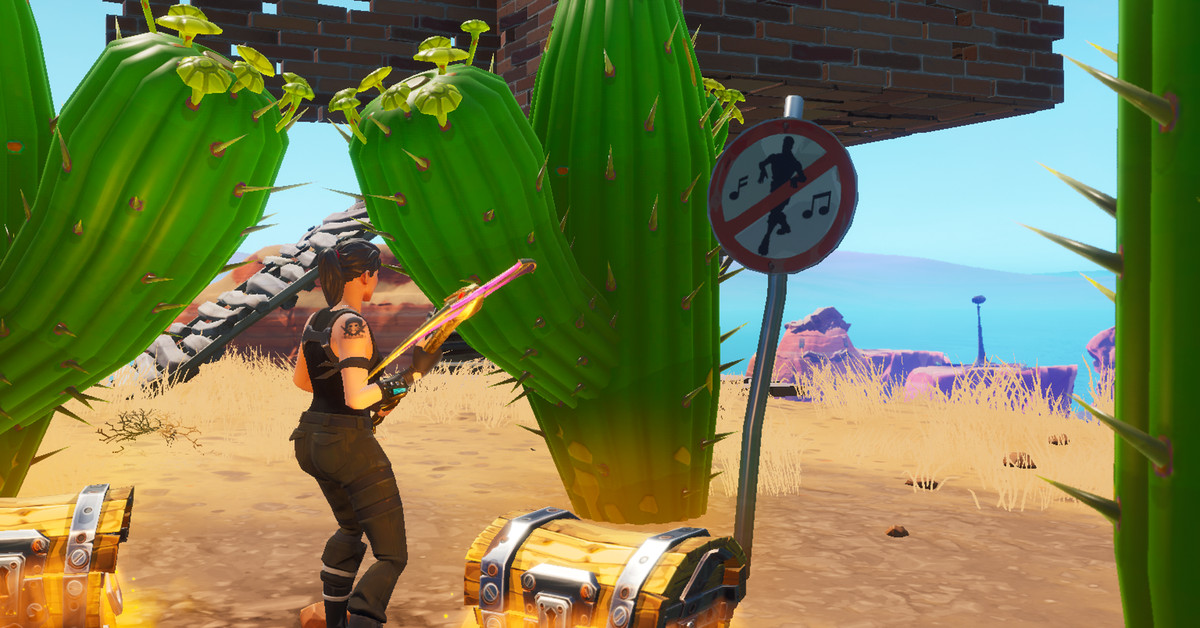 Fortnite mission Destroy no dancing signs locations