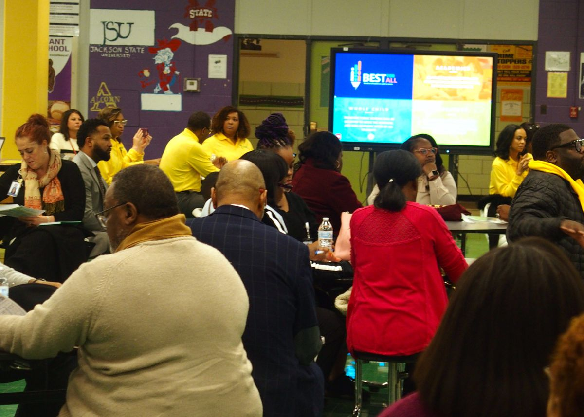 About 100 people came to the Tennessee Department of Education's community meeting in Memphis.