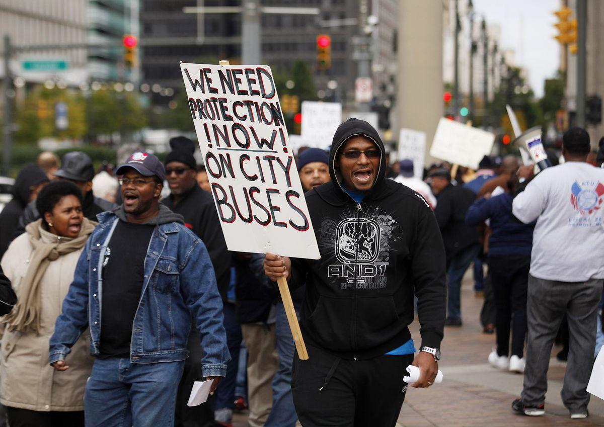 Detroit bus driver protest