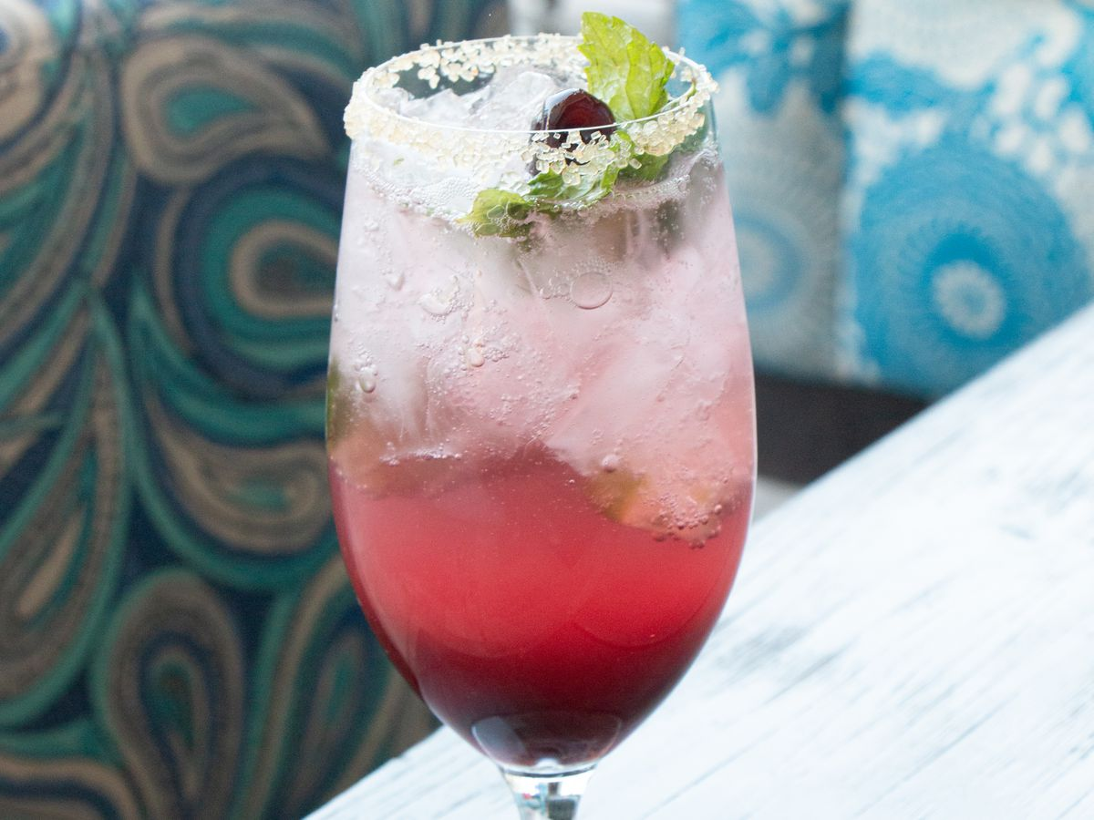 A red mocktail