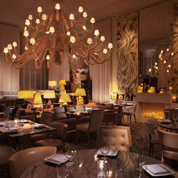 The Bazaar by José Andrés, designed by visionary Philippe Starck, is a dream with the octopus-like chandelier hanging overhead and the European-inspired finishes.
