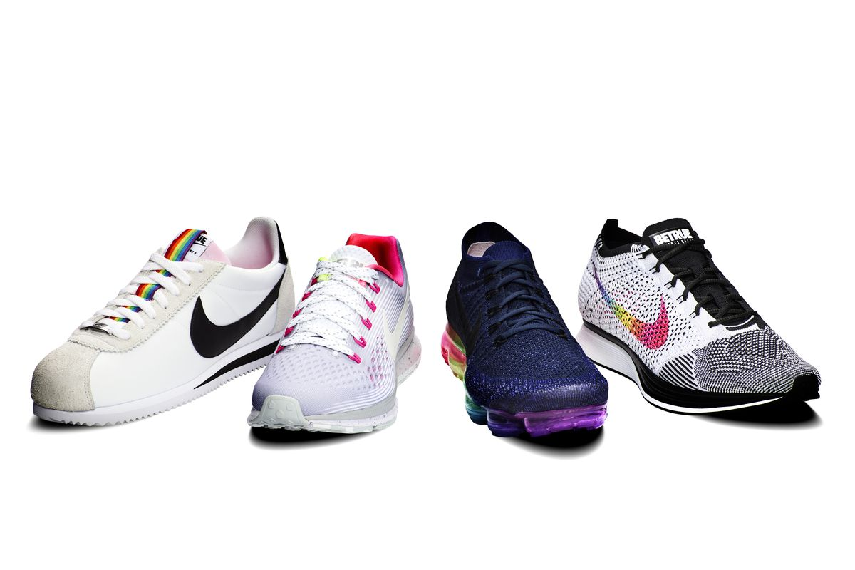 4906a4287aee9a Nike s 2017 BeTrue line is again highlighted by the iconic rainbow.