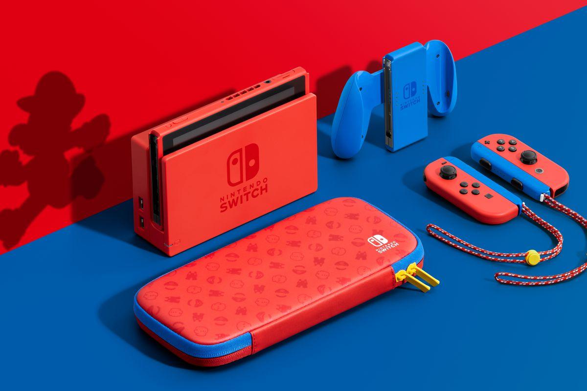 Nintendo Switch em homenagem à Mario