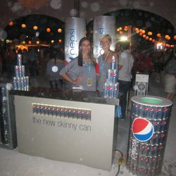 Models working the Pepsi Skinny can booth were, in fact, skinny