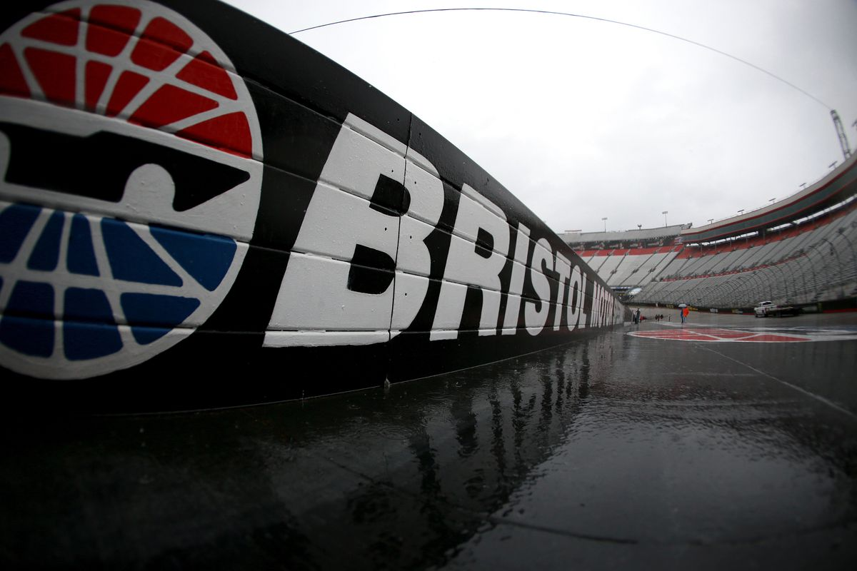 General view of the track prior to the start of the Monster Energy NASCAR Cup Series Food City 500 at Bristol Motor Speedway on April 15, 2018 in Bristol, Tennessee.