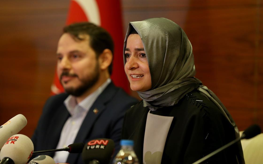 Turkish Family Minister Fatma Betul Sayan Kaya, one of the blocked ministers.