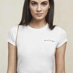 Feelings tee in white, $78 (also available in black)
