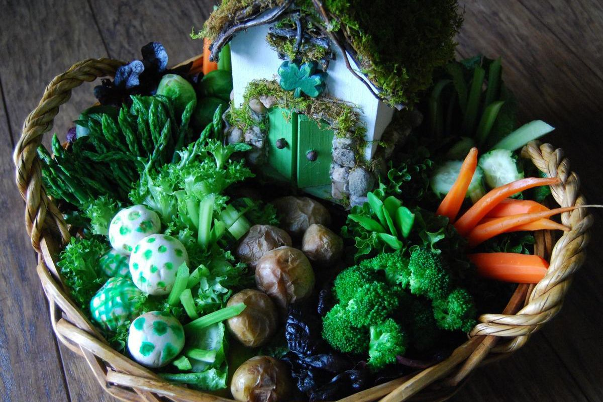 A leprechaun garden doubles as a centerpiece and appetizer for your St. Patrick's Day dinner.