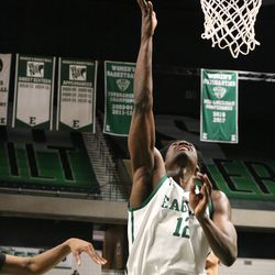 Boubacar Toure trying for a basket.