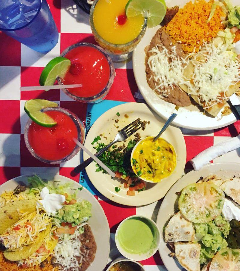 Tex-Mex dishes from Las Cazuelas
