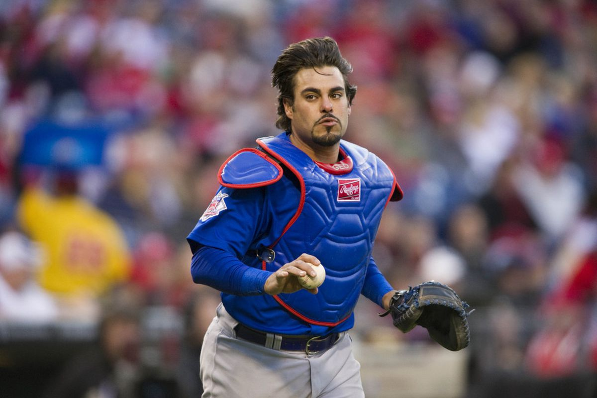 Geovany Soto was the longest-tenured of the three Cubs dealt tonight. Credit: Howard Smith-US PRESSWIRE