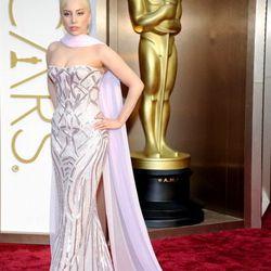 Oh hey, Lady Gaga in lavender metallic Versace.