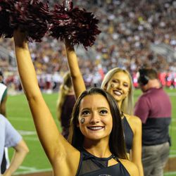 FSU Golden Girl happy about a missed FG.