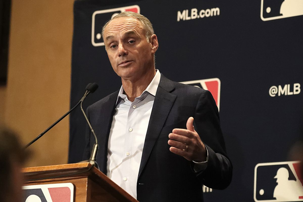 Commissioner Rob Manfred said all 30 Major League Baseball teams have pledged $1 million each to support ballpark workers.