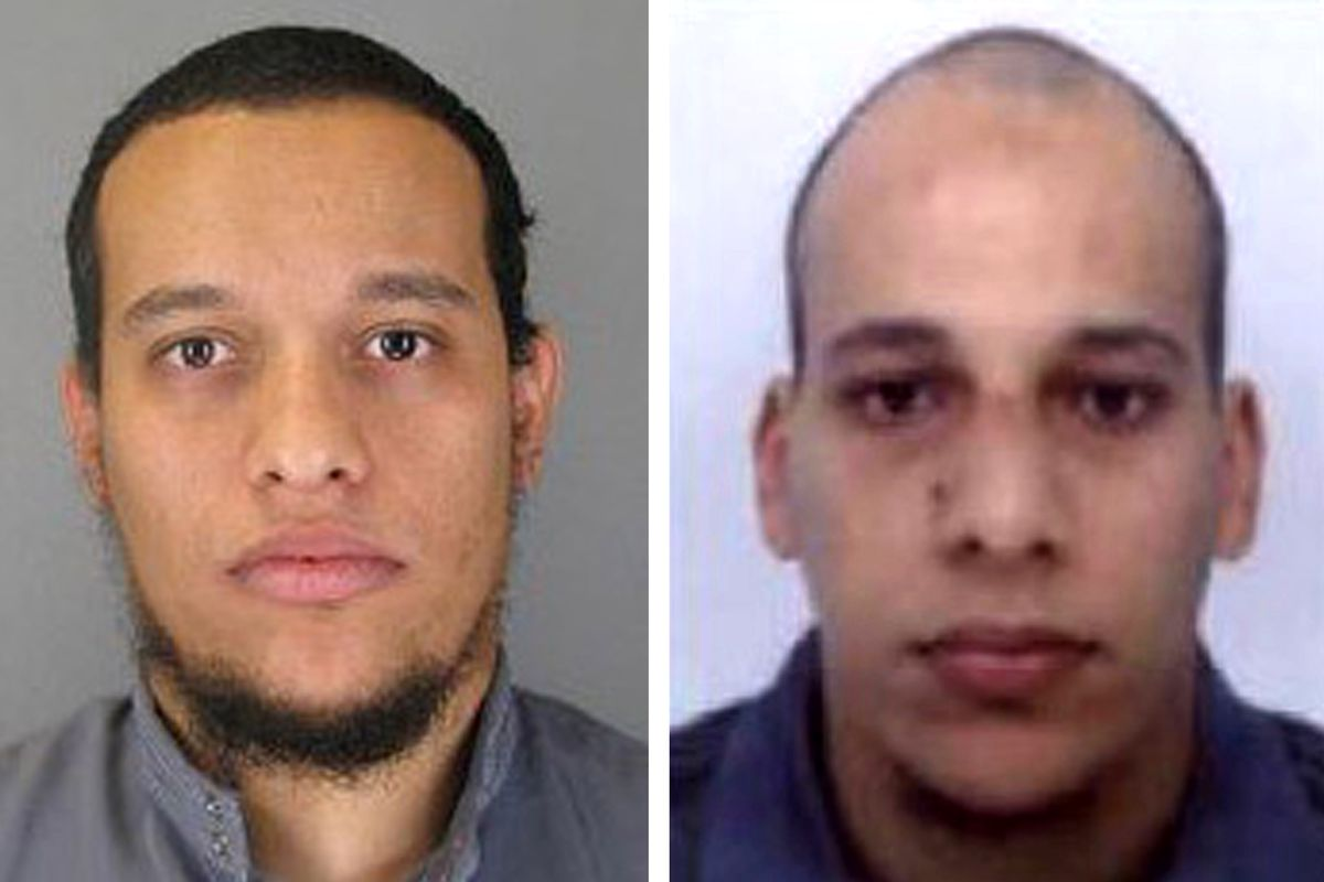 Saïd Kouachi, left, and Chérif Kouachi, right, the alleged perpetrators of the Charlie Hebdo attack, were killed by police in a standoff in Paris.