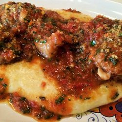 """Veal Tails Braised with Gremolata and Polenta at Bar Primi by <a href=""""https://www.flickr.com/photos/37619222@N04/14164623660/in/pool-eater"""">The Food Doc"""