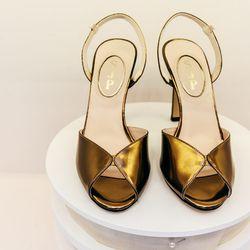 Slim sandal, $345