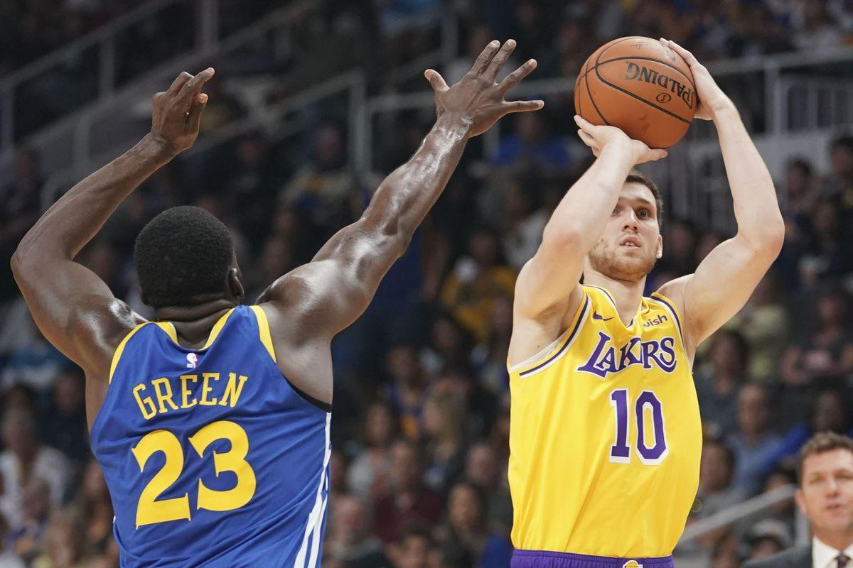 4474507c8107 Svi Mykhailiuk shakes shooting slump in Lakers 119-105 win over Warriors