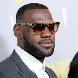 LeBron James at the New York premiere of <i>Trainwreck</i>.