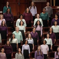 The multicultural choir from stakes in Utah sing during the afternoon session of the 191st Semiannual General Conference at the Conference Center in Salt Lake City on Saturday, Oct. 2, 2021.