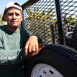 Roman Gonzalez, 17, works in Draper on Monday, Aug.  6, 2012.