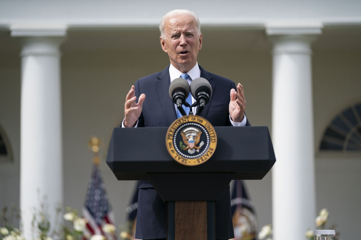 In this file photo, President Joe Biden speaks in the Rose Garden of the White House on May 13, in Washington.