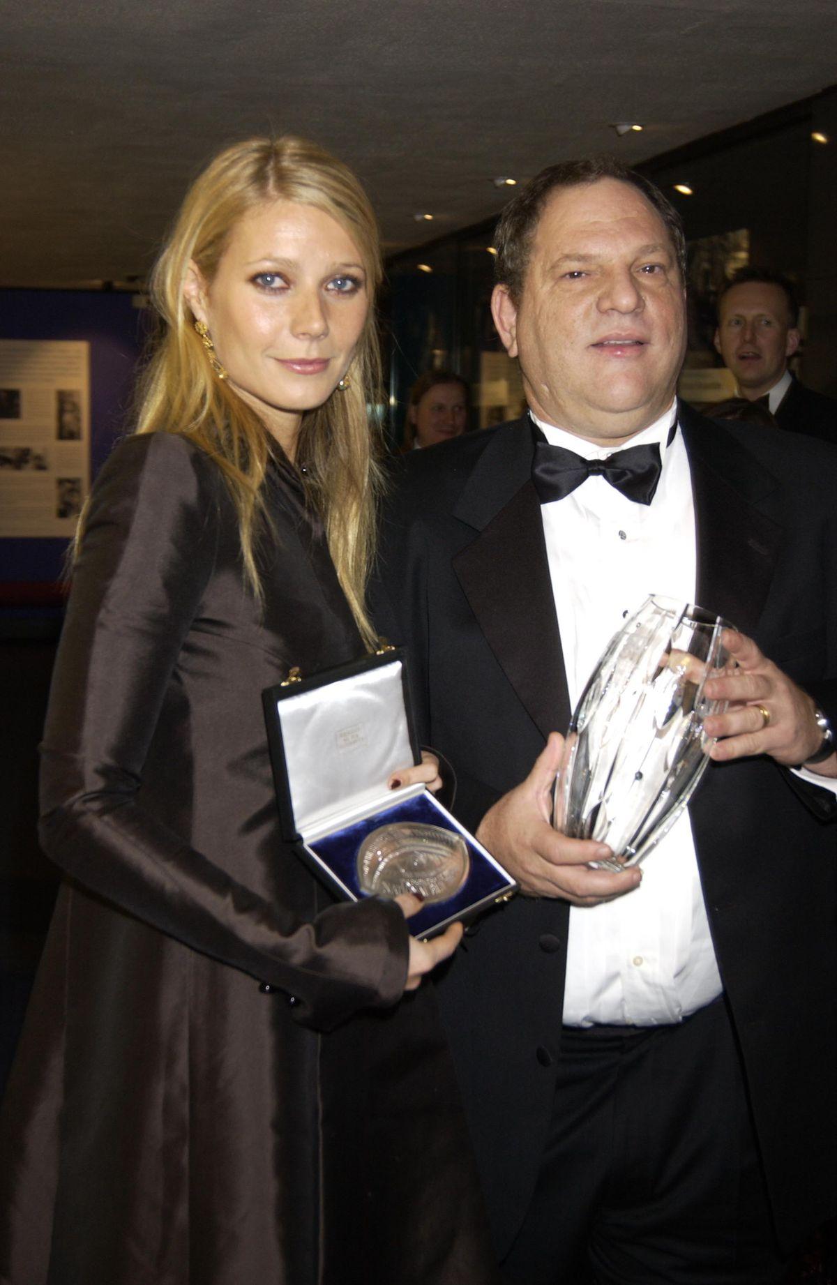 Actress Gwyneth Paltrow And Harvey Weinstein