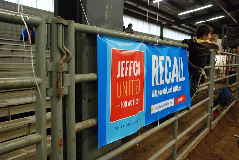 Dozens of young Jefferson County residents ran through the barn and climbed on rails during a campaign rally July 8.