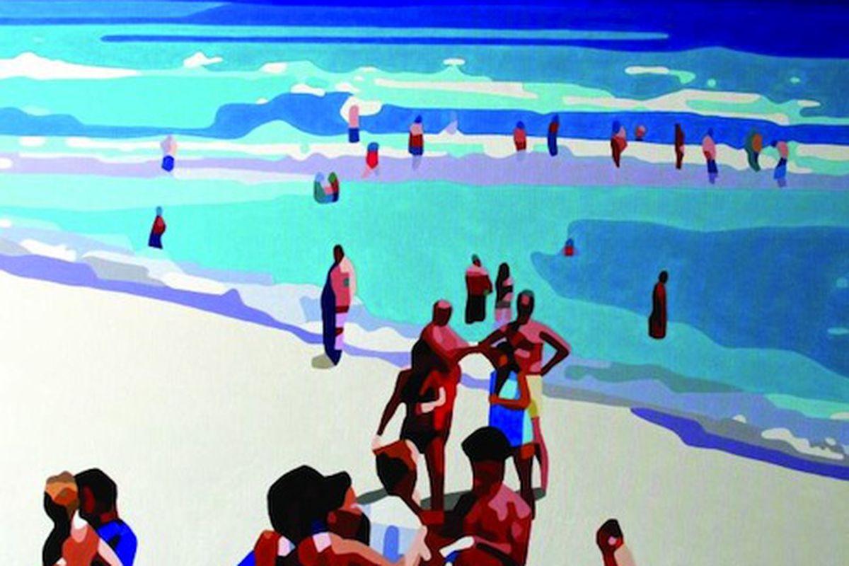"Bicha Gallery, London. James Hawke, Beach IV, 2013. Image via <a href=""http://affordableartfair.com/newyork/"">Affordable Art Fair</a>"