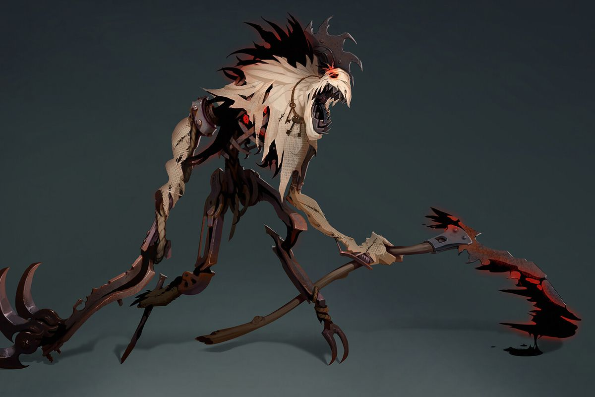 A concept of Fiddlesticks' rework, which has more jagged sharp edges