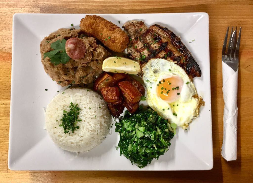 Mixed grill, rice, and a fried egg at Kaipiras by Barraco, one of the best value restaurants in west London