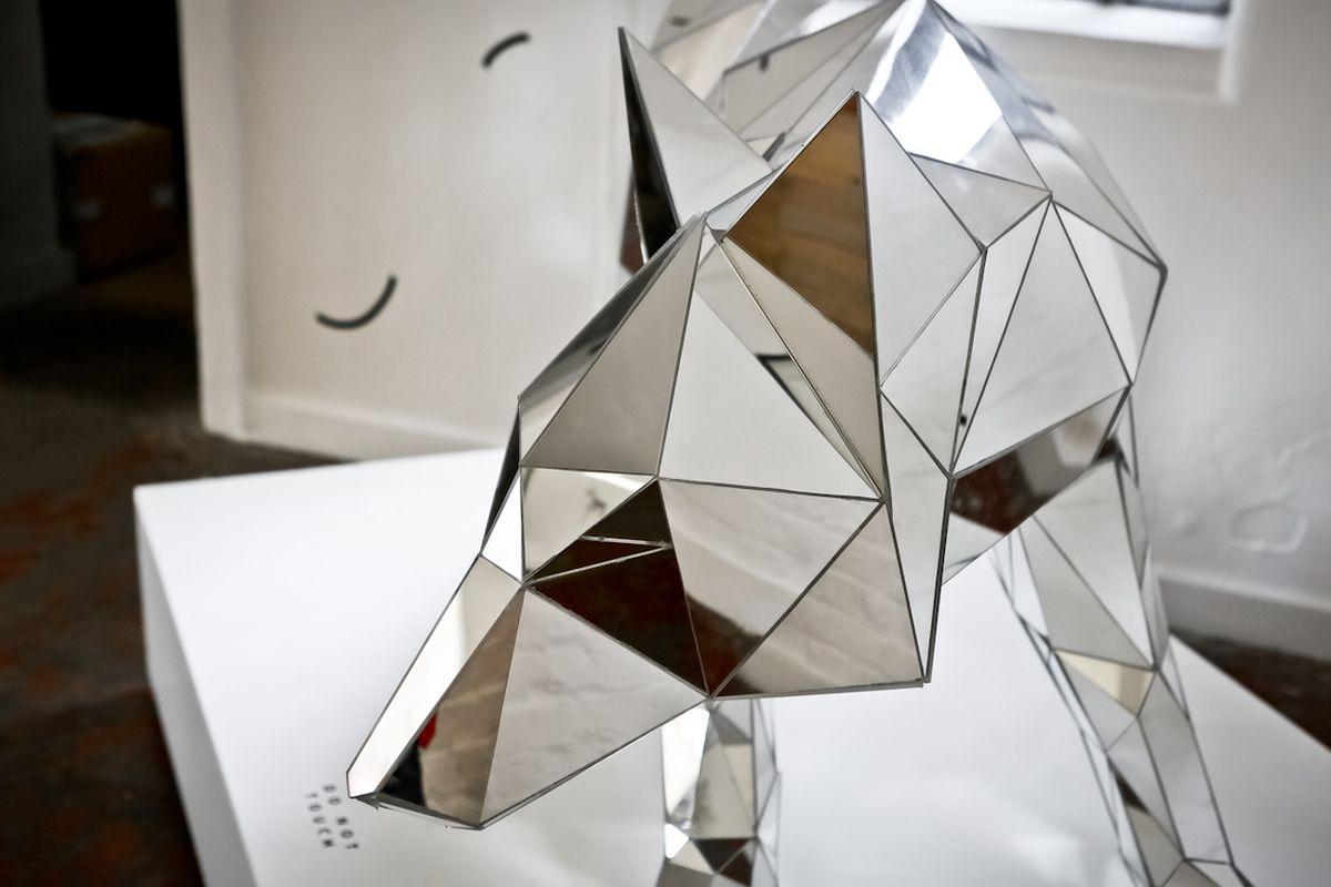 Artist arran gregory s wolf is part polygonal