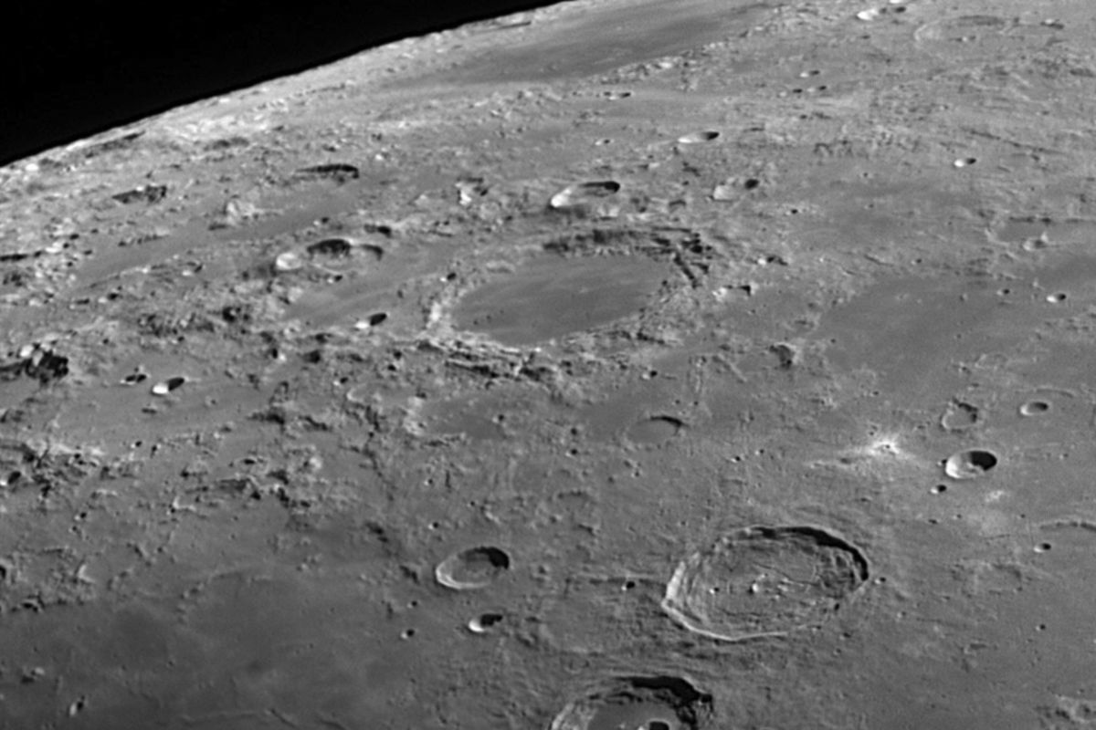 Approaching the crater Atlas. Photo copyrighted by Richard Garrard and used with permission.