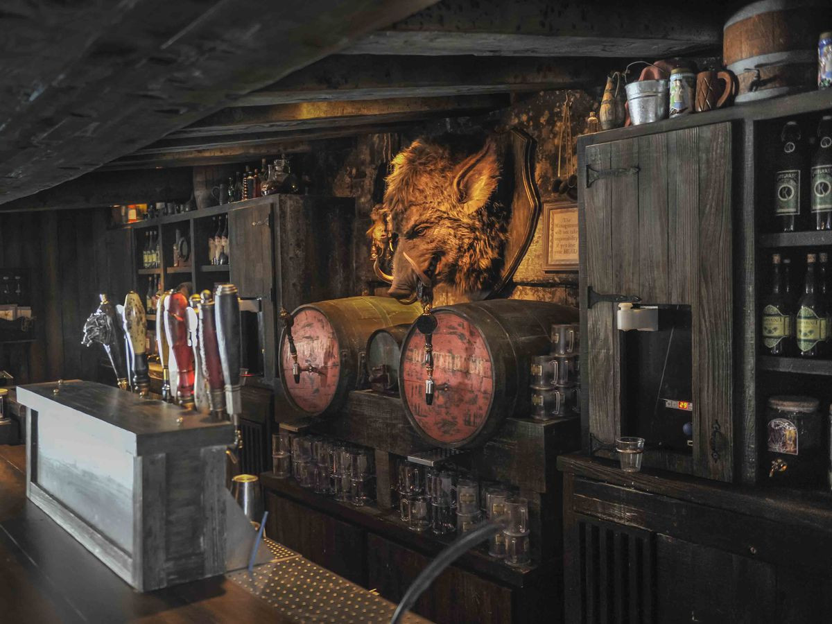 Hog's Head pub at the Wizarding World of Harry Potter in Orlando