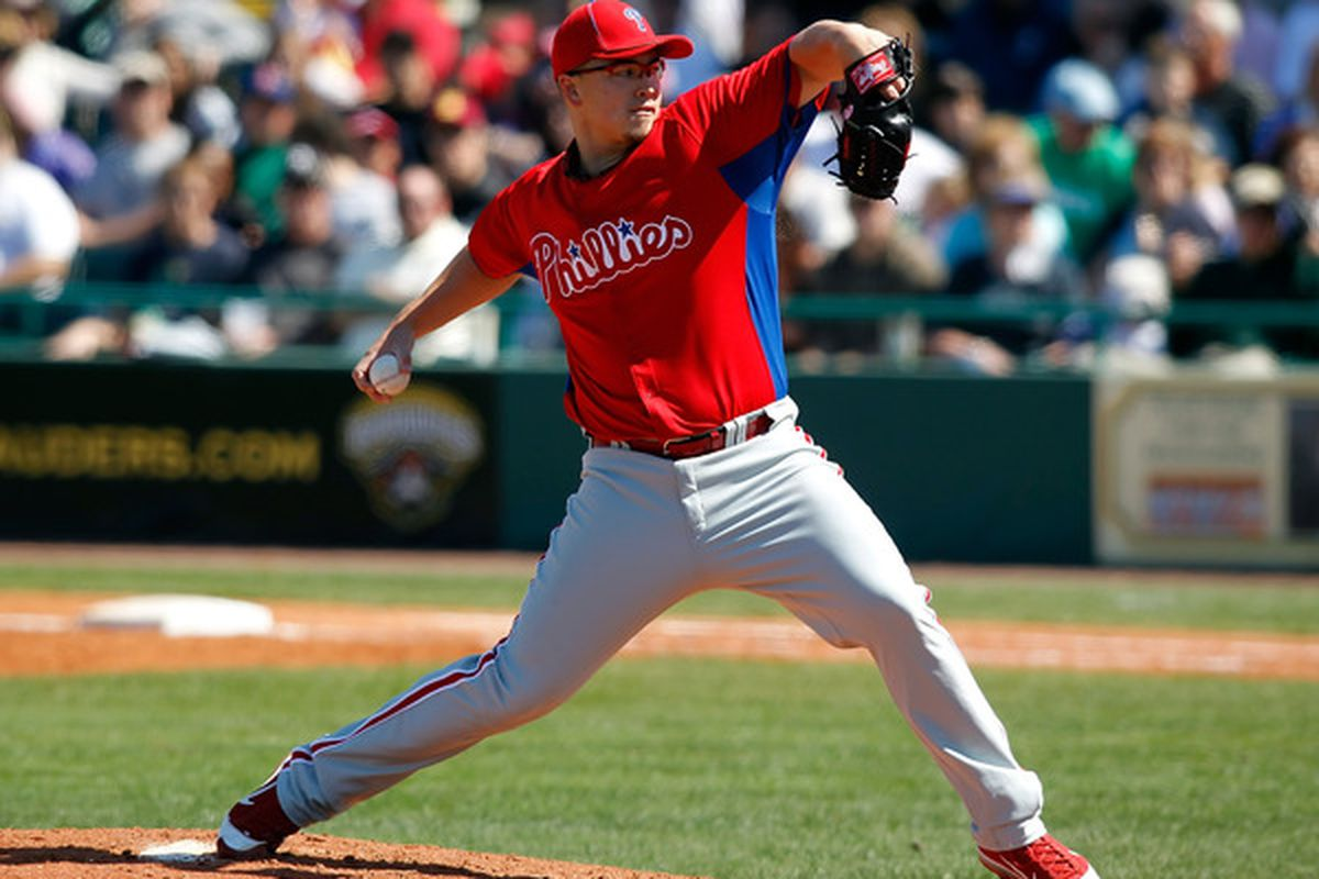 Pitcher Vance Worley of the Philadelphia Phillies (Photo by J. Meric/Getty Images)