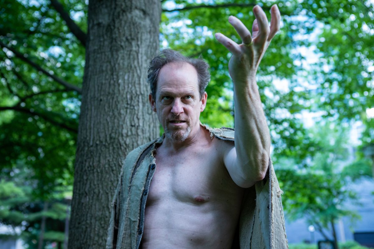 """Kevin Theis stars as Prospero in Oak Park Festival Theatre's production of """"The Tempest."""""""