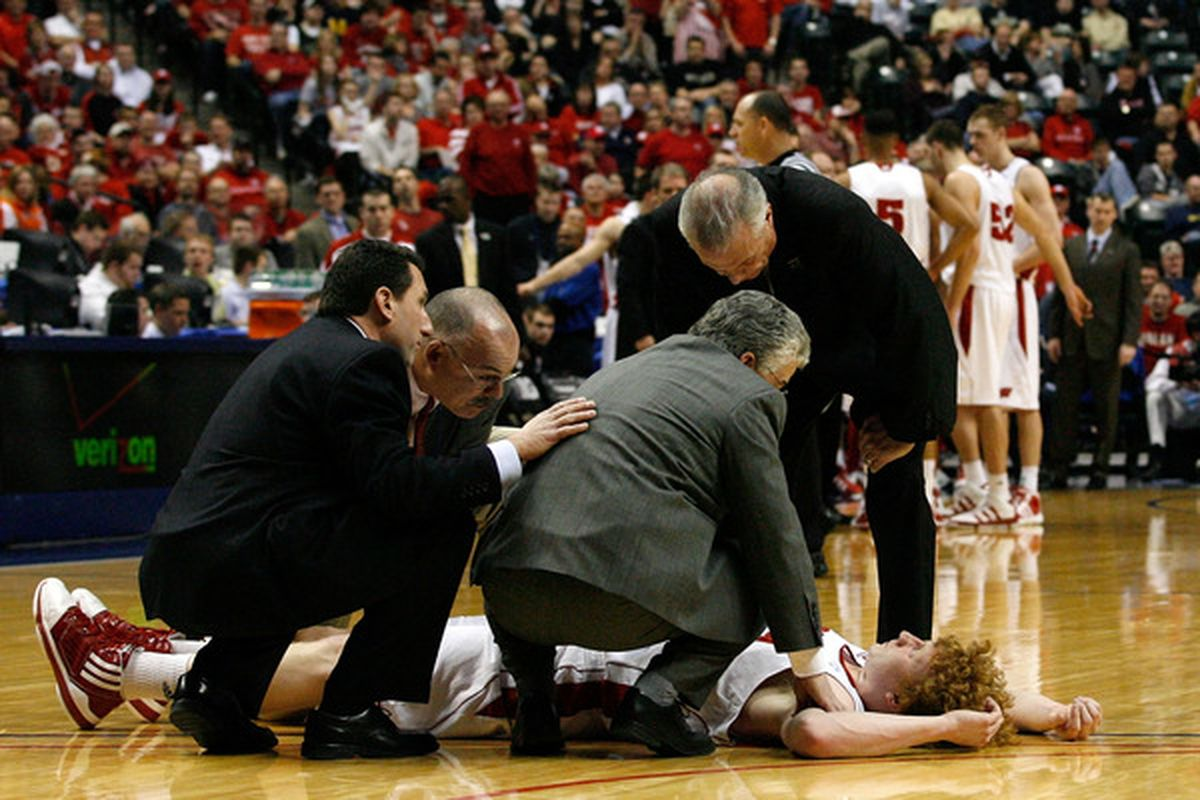 It gets better from here, Wisconsin fans. (Photo by Chris Chambers/Getty Images)