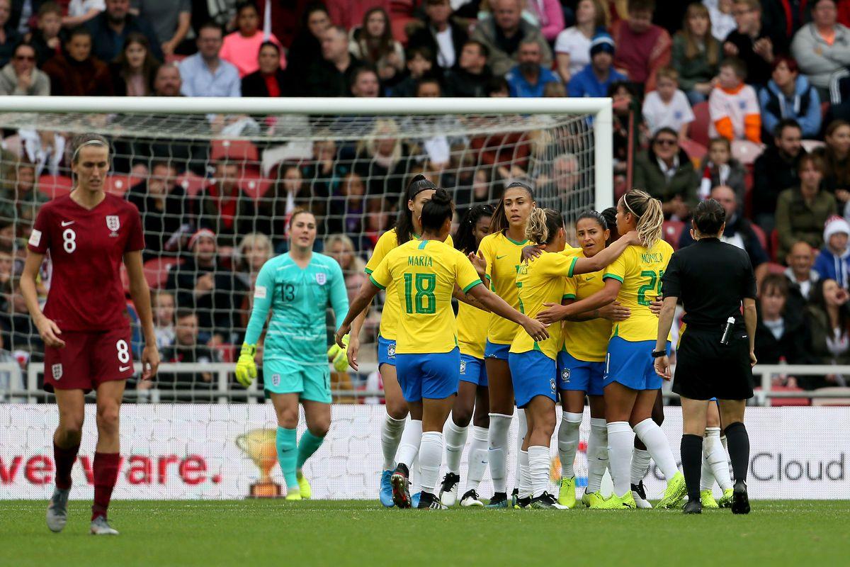 England Women v Brazil Women - International Friendly - Riverside Stadium