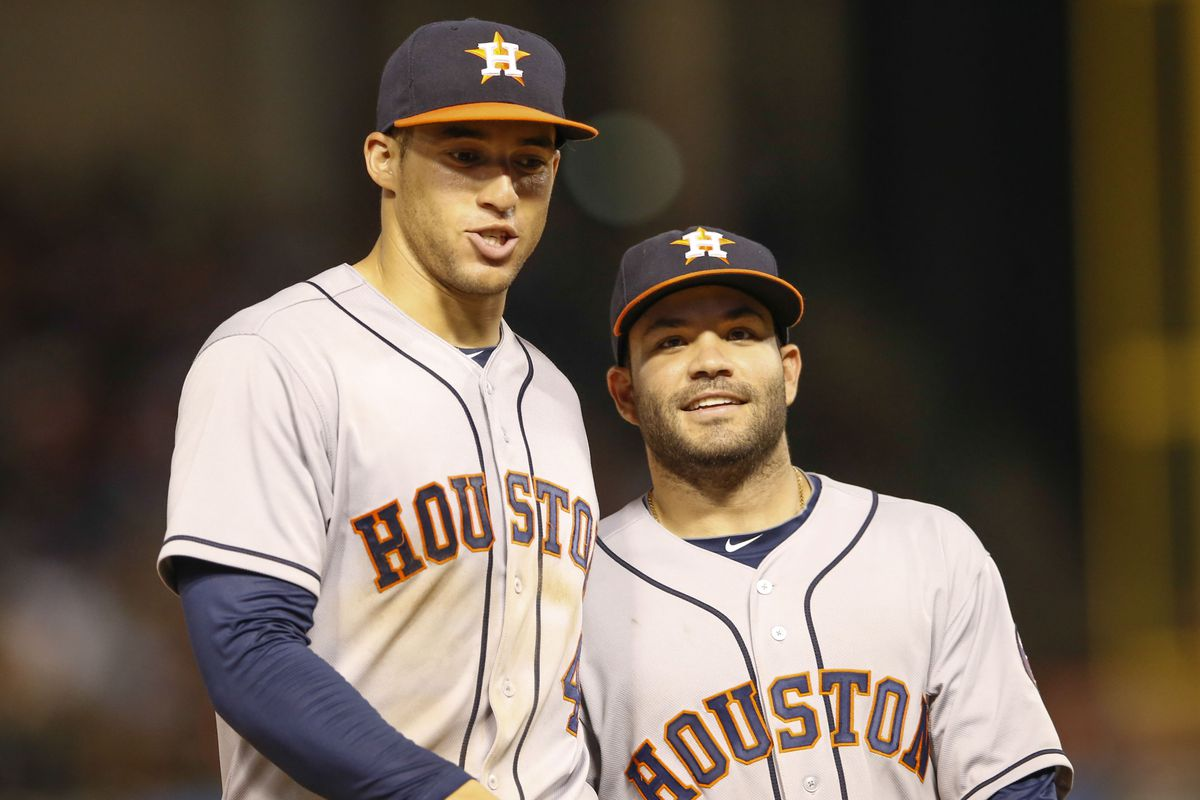George Springer and Jose Altuve look to lead the Astros.