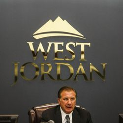 Mayor Kim Rolfe gets ready for a City Council meeting at West Jordan City Hall on Wednesday, Aug. 10, 2016.