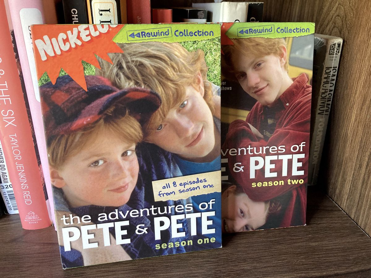 The Adventures of Pete & Pete on DVD sitting on a book shelf