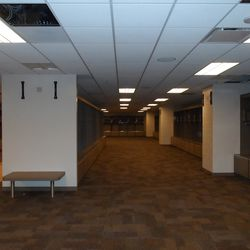 A second look at the visiting locker room