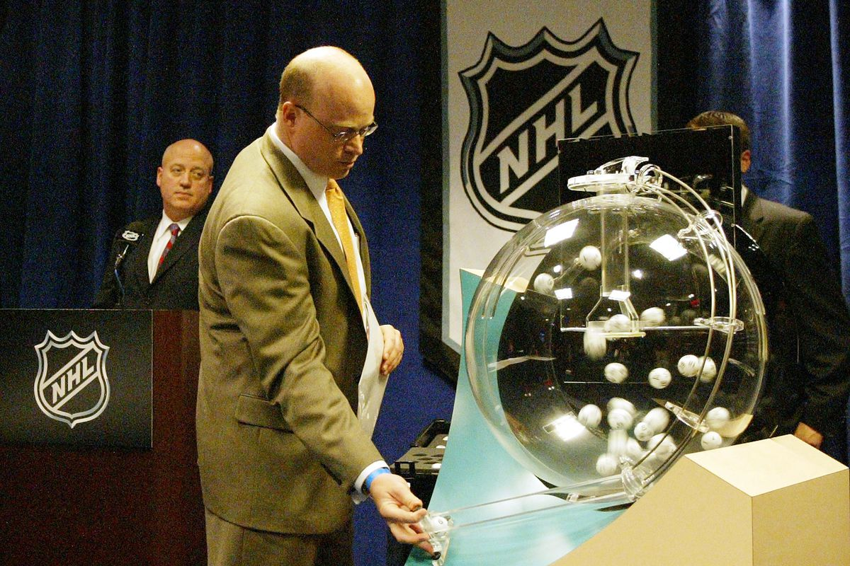 NHL Holds News Conference And Draft Pick Lottery