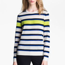 """<b>Miss Wu</b> Sofie Striped Cashmere Sweater, <a href=""""http://shop.nordstrom.com/S/miss-wu-sofie-stripe-cashmere-sweater-nordstrom-exclusive/3376782?origin=keywordsearch&contextualcategoryid=0&fashionColor=&resultback=0"""">$295</a> at Nordstrom"""