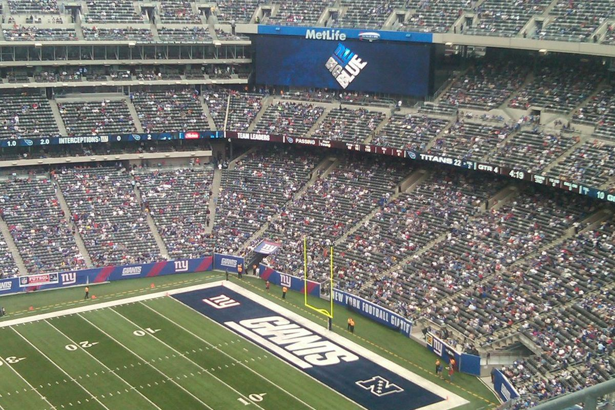 All those empty gray seats are way harder to make out than the red ones at the old stadium!