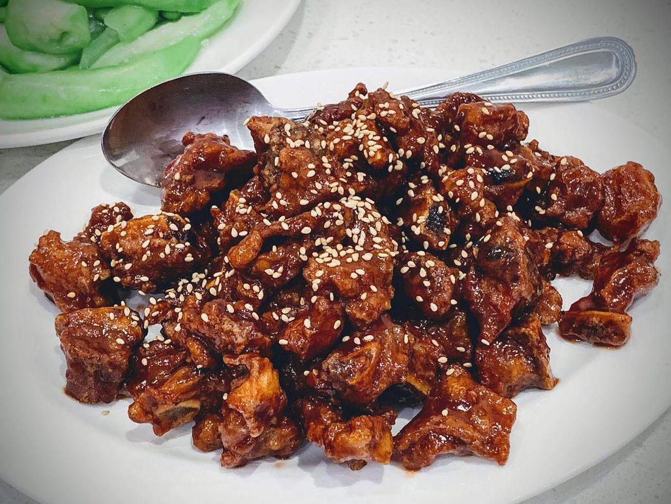 Shanghai baby ribs from Jiang Nan Spring