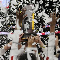 I had never walked through national title confetti before. There was a lot of it.